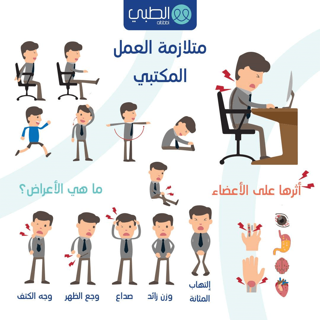 الآثار الجانبية للعمل المكتبي