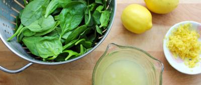 الليمون والسبانخ