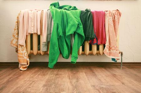 التجفيف الداخلي للملابس خطر صحي