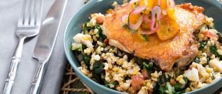 وصفة افطار صحية: وصفة فريكة بالدجاج