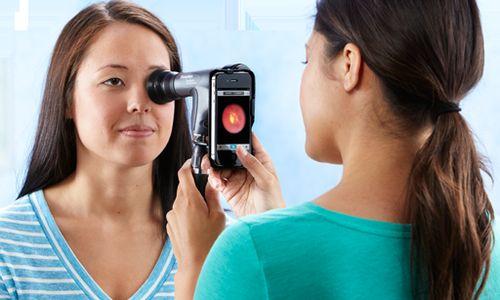 تصوير شبكية العين عن طريق برنامج للأجهزة الذكية
